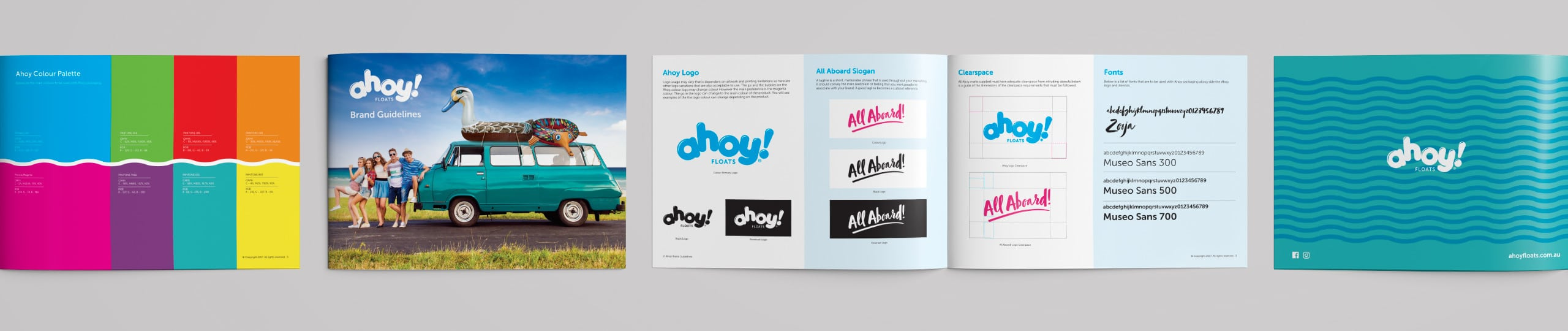 Ahoy Floats Brand Guidelines Brand Strategy Marketing Campaign Brand Design