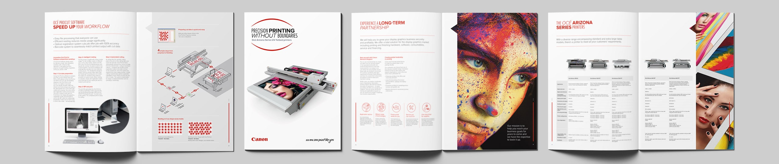 Canon No one sees print like you Brochure Brand Strategy Marketing Campaign Brand Design