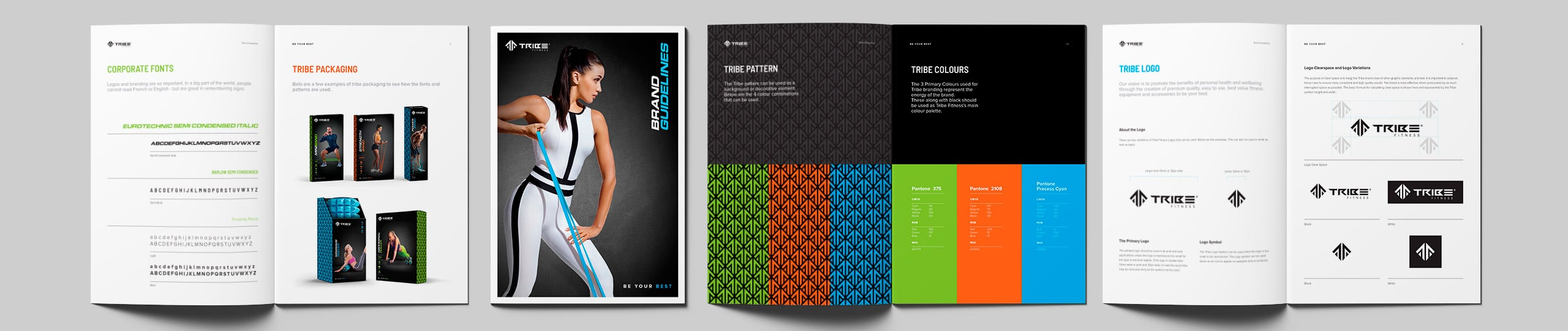 Tribe Fitness Brand Guidelines Brand Strategy Marketing Campaign Brand Design